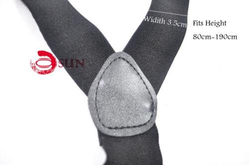 Mens Braces 35mm Wide Strong Metal Clip Adjustable Elastic Suspenders
