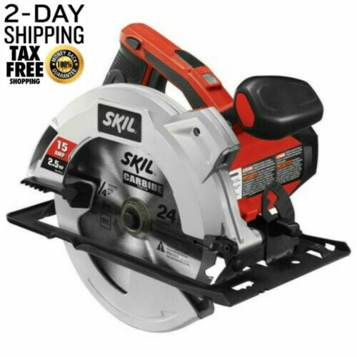 Skill Circular Saw with Laser Guide 15 Amp Electric 7-1//4 inch Blades Skill Saw