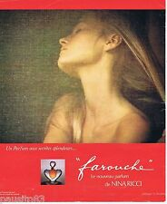 PUBLICITE ADVERTISING 095 1976 Nina Ricci Farouche par David Hamilton
