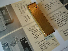 Dunhill TallBoy Petrol Lighter - Gold Plated - Cartier Lic. - Feuerzeug/Briquet