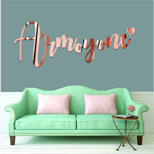 Rose Gold Name Wall Art Sticker Personalisation Quote Wedding  Phrases Decals