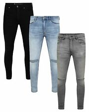 Ringspun Mens Fashion Jeans Super Skinny Stretch Denim Slim Narrow Tight Pants