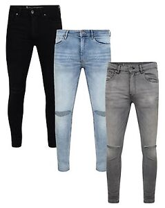 80c0bd3816ba4 La imagen se está cargando Ringspun-Jeans-Para-Hombre-De-Moda-Super-Skinny-
