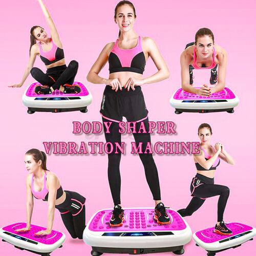 Slim Vibration Fitness Platform Machine Plate Body Shaper  Massage 180W Red