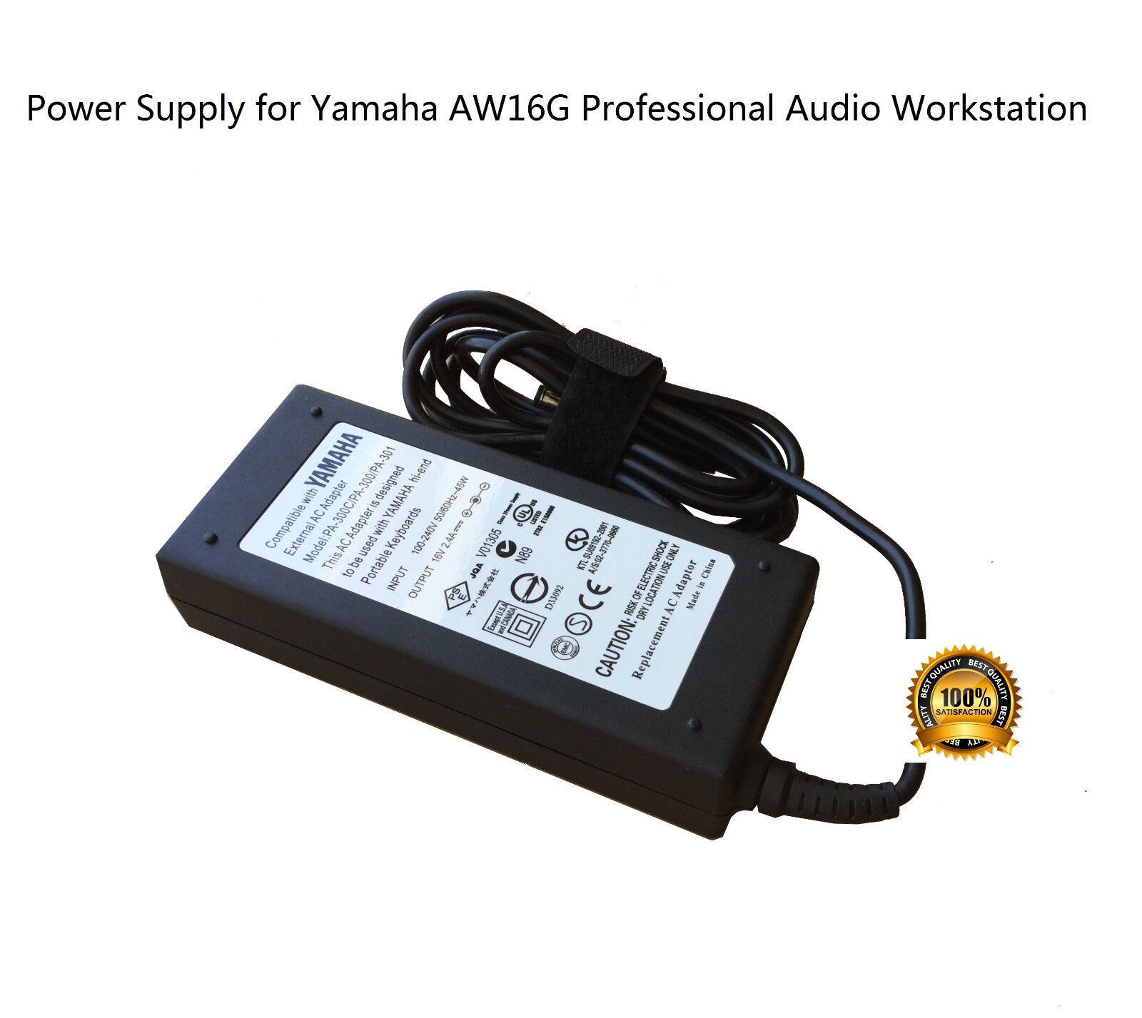 AC Adapter Power Supply for Yamaha AW16G Professional Audio Workstation AW-16G