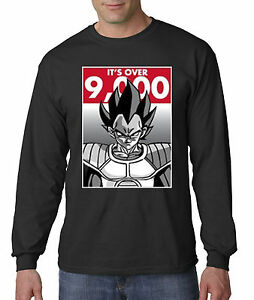 571326e43a943 New Way 350 - Unisex Long-Sleeve T-Shirt It s Over 9000 Vegeta Goku ...