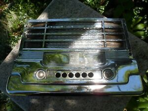 1949-1950-PLYMOUTH-Dodge-DASH-Chrome-SPEAKER-GRILLE-RADIO-DELETE-PLATE
