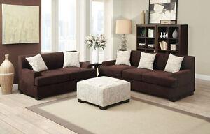 Modern Versatile Family 3pc Sectional Sofa Set Sofa Loveseat w Cocktail Ottoman