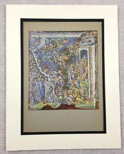 1929-Antik-Aufdruck-Byzantinische-Mosaik-Santa-Maria-Maggiore-ROM-Italien-Kunst