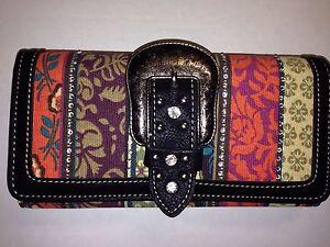 Montana West Aztec Print Buckle Wallet Wristlet