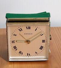 Kultiger mechnischer Kienzle Reisewecker im Gürtel Messing Tisch Wecker Uhr 70er