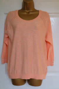 M-amp-S-PER-UNA-Orange-Fiz-Pure-Cotton-Pointelle-Jumper-Top-with-StayNew-Technology