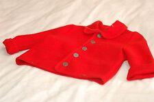 NWOT Giesswein Red Wool Jacket Size USA 2 92 cm Children