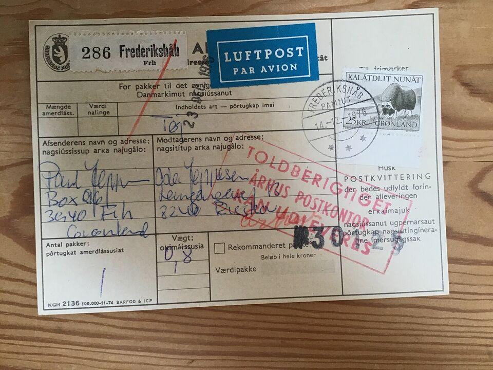 Grønland, Adressekort