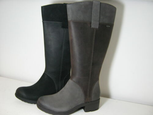 Ladies Clarks Mansi Cate GTX Leather Long Casual Zip Up Waterproof Boots