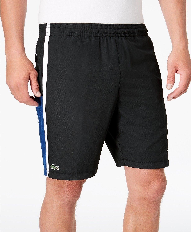 Lacoste Sport  Pantalones Cortos de tafetán-Negro blancoo Marino-XL-Nuevo  Envio gratis en todas las ordenes