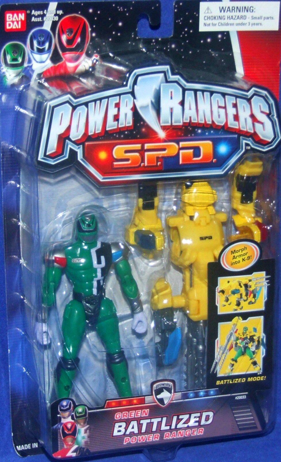 Power Rangers SPD 6  GREEN BATTLIZED Power Ranger New K-9 Factory Sealed 2004