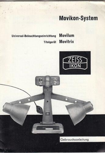 Zeiss Ikon manual de instrucciones para movikon-System-instrucciones
