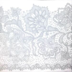 4 Single paper decoupage napkins background -496 Black and white lace pattern
