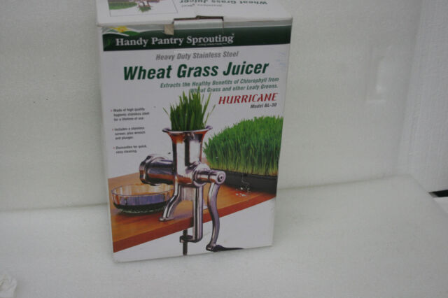 Stainless Steel Manual Wheatgrass Juicer Masticating Press Hand ...