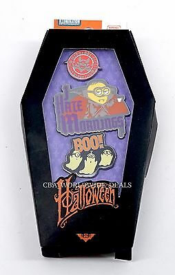 NEW Universal Studios Despicable Me Minion Halloween Pin Set of 3 Ghost Boo!