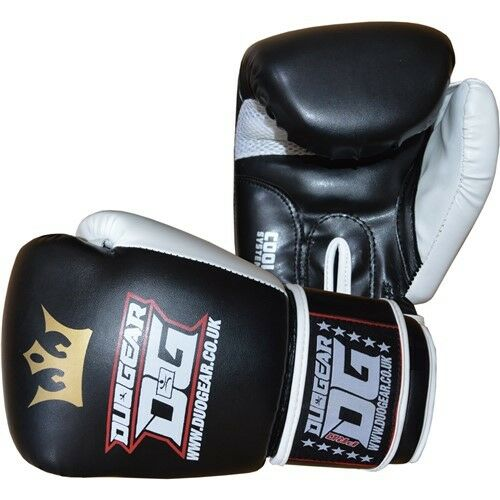 BLACK /'RAJA/' SPARRING PADWORK FOR MUAY THAI TRAINING AND FIGHTING GLOVES
