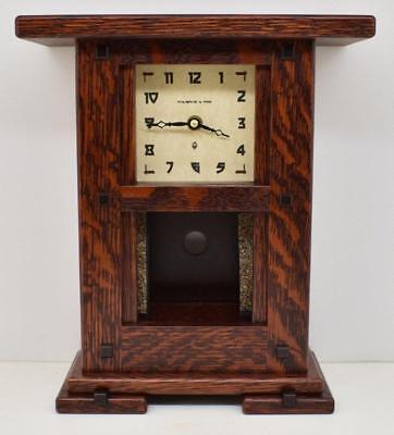 Arts /& Crafts Clock Greene Inspired Craftsman Oak for 4x4 Motawi Tile or other