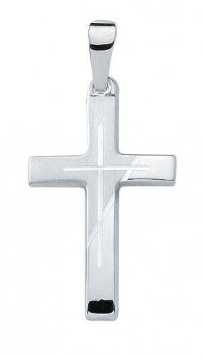 Pendant Christian cross Komm Plain on White gold 12663819 585 White gold