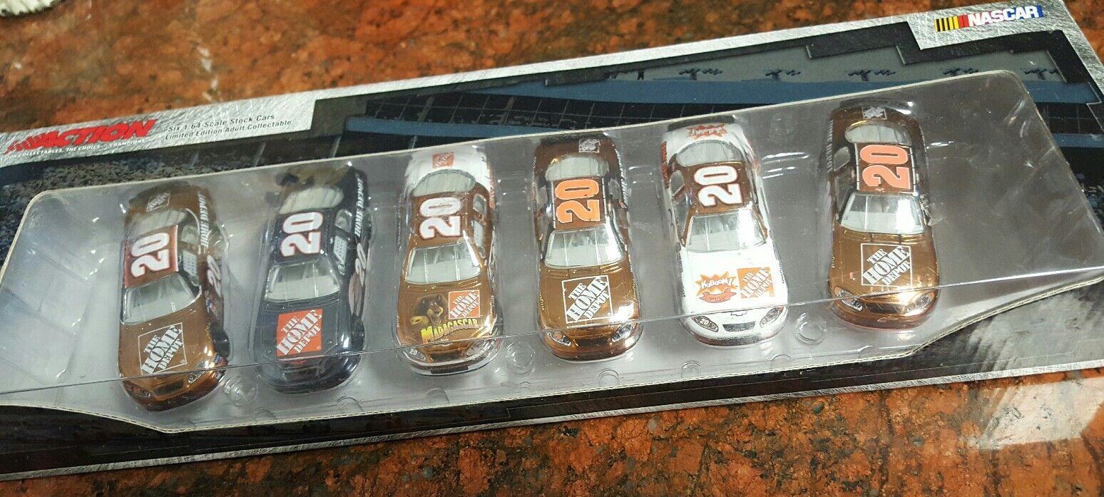 Tony Stewart  20, NASCAR DIE CAST SET OF 6, VINTAGE 2005, 1 64 scale,LIMITED ED.