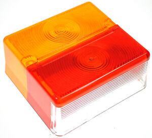 2 x BRITAX Square 4 Way Rear Lamp Light 9088 Ifor Williams Trailer Horse Box