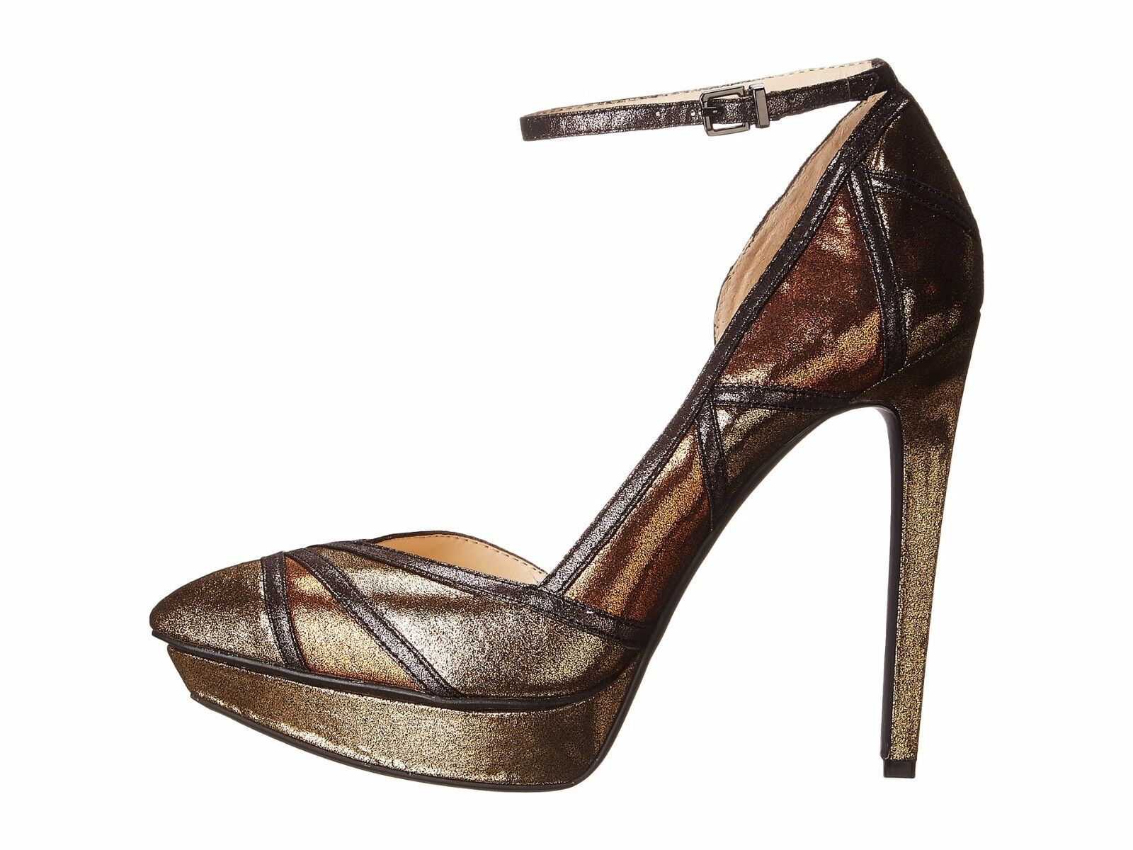 Jessica Simpson Vindie Metallic Pointed-Toe d'Orsay Pumps damen Größes Größes Größes 6-10 Gold 8e6464