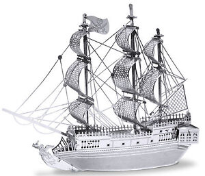 Black-Pearl-Ship-25-Pieces-3D-Metal-Kit-Silver-Edition-Metal-earth-1012