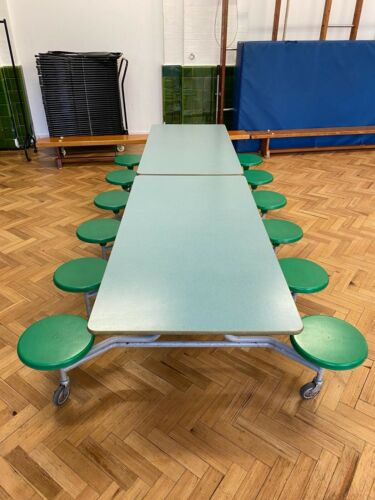 Rectangular Mobile Folding 12 Seater Dining Canteen Units -Collect NW1. RRP £930