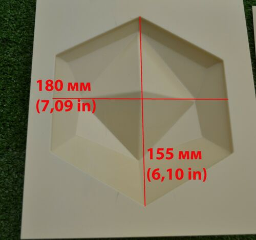 Sold 12 pcs molds 3D Wall Tiles concrete tiles *HEXAHEDRON* modern Art #W21
