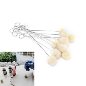 10pcs DIY Leather Tool Accessories Wool Daubers Assisted Dyeing Wool Ball Wool Dauber