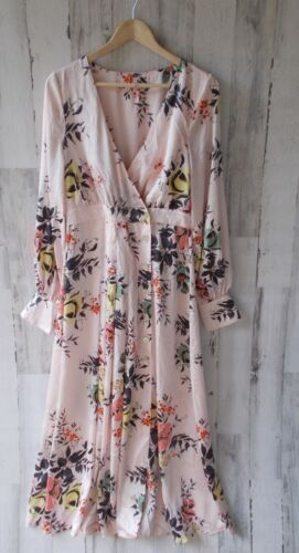 manica People 168 M gratis lunga Floral Bloom Maxi Dress Buttondown Nwot In FTzqwpxnqE
