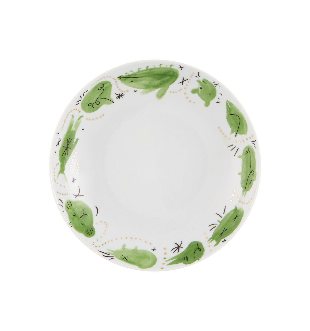Vista Alegre Folkifunki Soupe Assiette Vert - Ensemble de 8