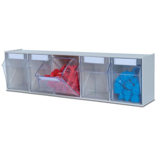 Lagersystem Multistore 5 Kippschubladen GRAU Werkstatt-Ordnungssystem Magazin