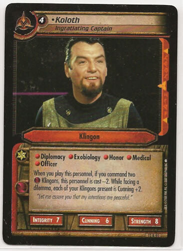 Star Trek CCG These Are The Voyages RARE 12R91 Koloth Ingratiating Captain