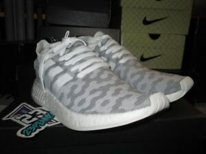sports shoes a0f40 543df Details about ADIDAS NMD RUNNER R2 WOMENS WMNS PK PRIMEKNIT BY9520 GREY  WHITE PINK NEW