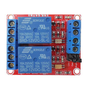 2-Channel 12V Relay Module Optocoupler High and Low Level
