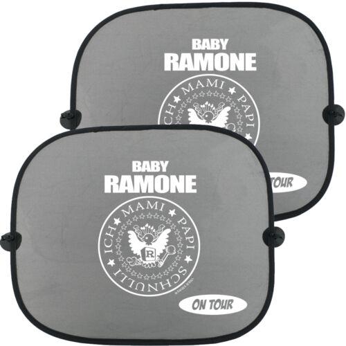 2 Stück BABY RAMONE ON TOUR Auto Kinder Sonnenschutz Doppelpack