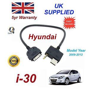 pour-Hyundai-i30-iPhone-3GS-4-4S-IPOD-USB-amp-3-5-mm-AUX-Cable-Audio-My-2009-2012