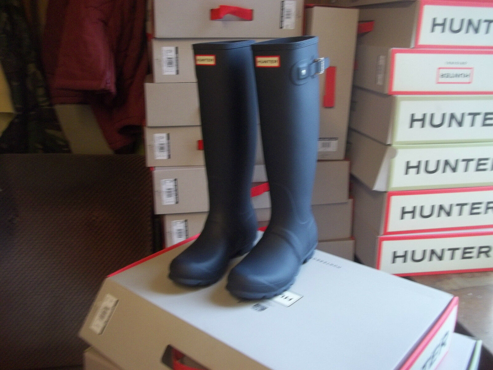 HUNTER BRADFORD WELLINGTONS IN HALIFAX AND BRADFORD HUNTER  SIZE 7  NAVY ORIGINAL TALL Damenschuhe 20aa5d
