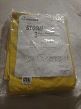 CORDOVA RS353Y STORMFRONT 3-PC RAIN SUIT JACKET ZIPPER SIZE 5X SNAP BUTTONS