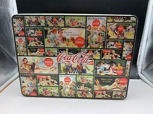 Coca-Cola-Set-Cups-Tin-Can-Domino-Spiel-Top-Condition