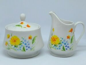 "Imperial China By W. Dalton ""Just Spring"" Cream And Sugar Bowl"