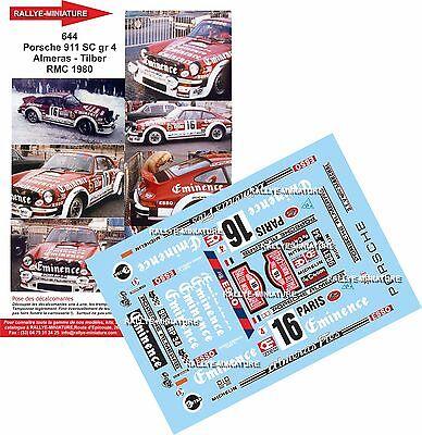 DECALS 1//43 PORSCHE 911 FOURMACHAT RALLY MONTECARLO 1980