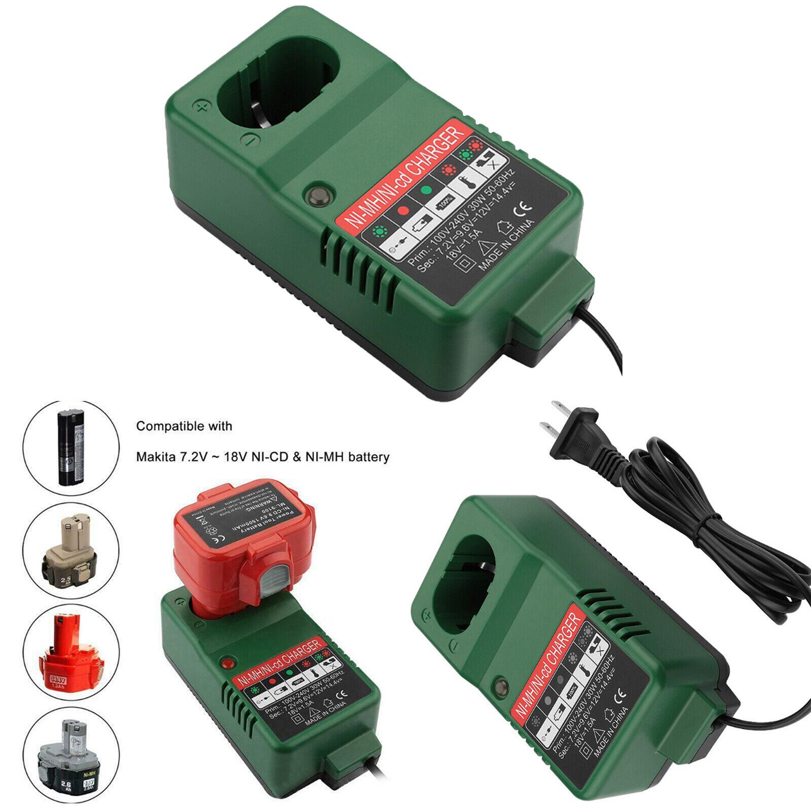 Para Makita/Hitachi ni-CD baterías ni-mh 7.2V-18V cargadores de batería carga rápida