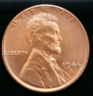 1944-D  1¢ LINCOLN WHEAT CENTCHOICE BU Red